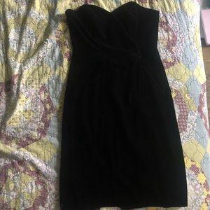 Vintage 90's Black Velvet Fitted Dress